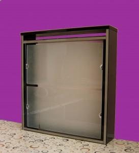Cubreradiador negro y cristal
