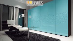 Serie Elegant 138 - Panel Pantografiado Lacado Azul