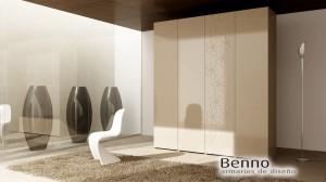 Serie Elegant 139 - Panel Pantografiado Lacado marfil flores