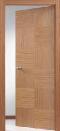 K12 puerta de madera de roble barnizada