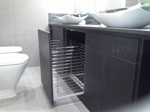 Mueble de baño negro