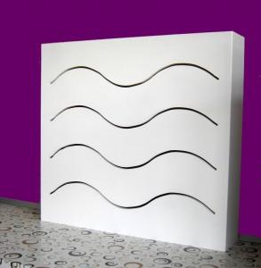 Cubre radiador lacado en blanco olas