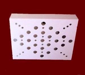 Cubreradiador lacado en blanco