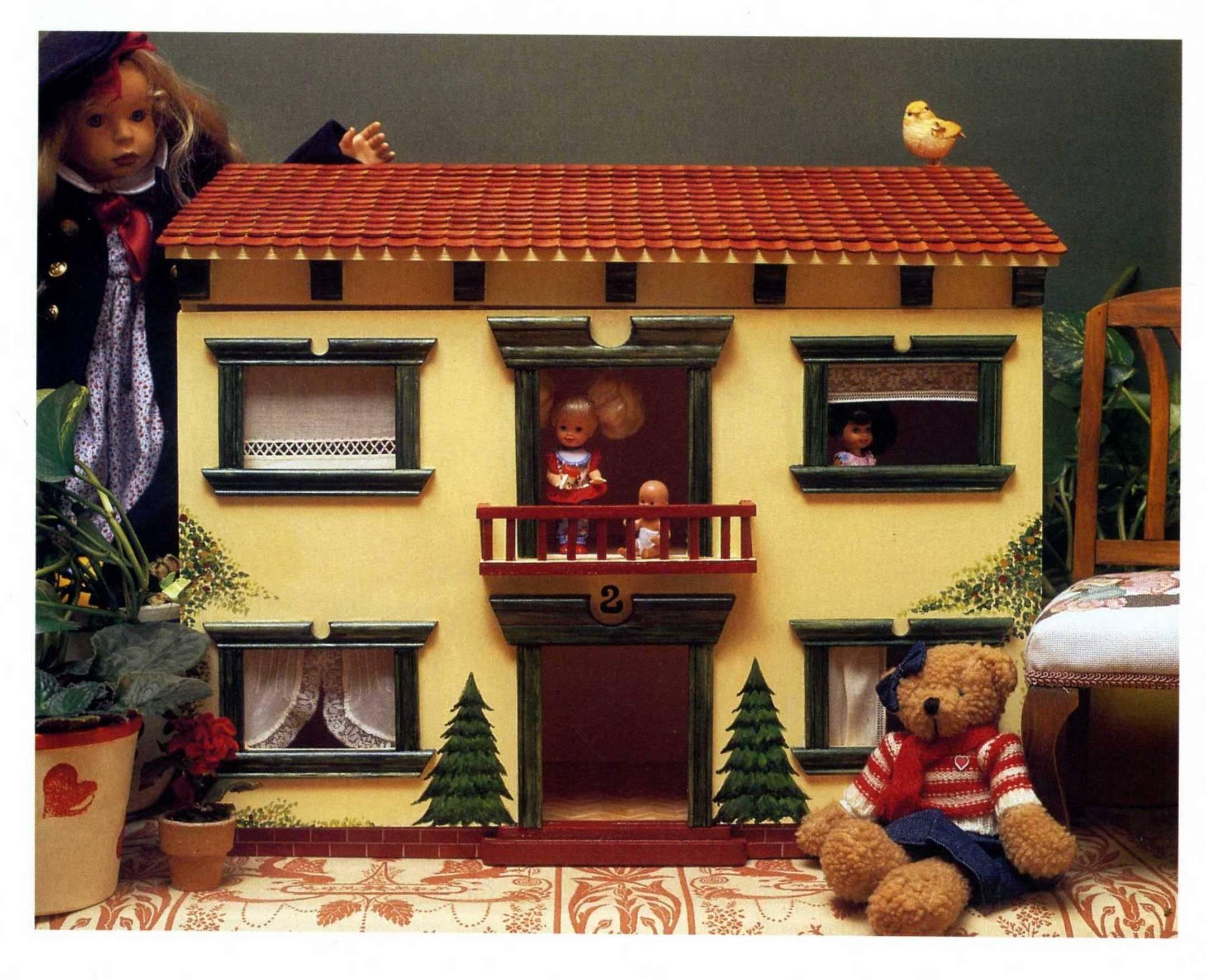 Casita de muñecas decorada
