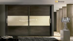 Serie Elite 127 - Perfil Melanina Wengue Paneles combinados cristal especial Literatto