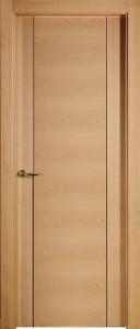 L7 puerta de madera de roble barnizada
